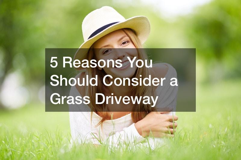 concrete grass grid driveway